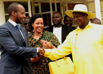 King Oyo, Queen Mother Best Kemigisa and President Museveni