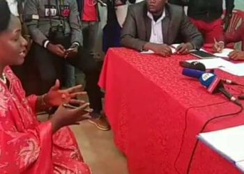 Nabilah Naggayi Sempala being vetted by NUP electoral commission
