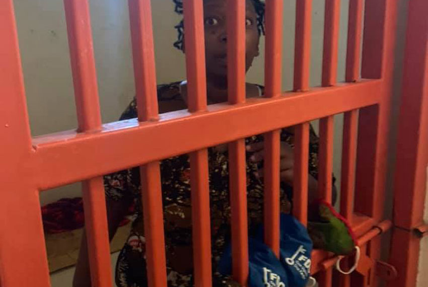 Stella Nyanzi in Police Cells