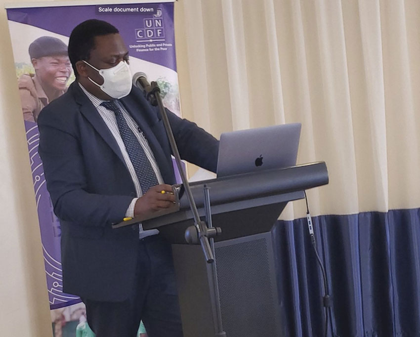 Dr Charles Olaro, Director Curative Services at the Ugandan Ministry of Health at the launch