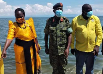MINISTER COMMENDS UPDF MARINES FOR DEFEATING GANGS ON LAKE ALBERT