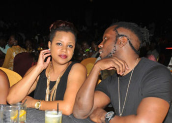 Singer Bebe Cool with his wife Zuena