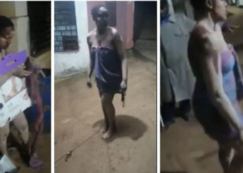 A young lady caught on camera allegedly night dancing