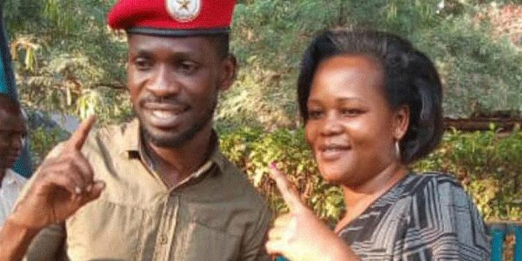 Bobi Wine with NUP's EC boss Mercy Walukamba