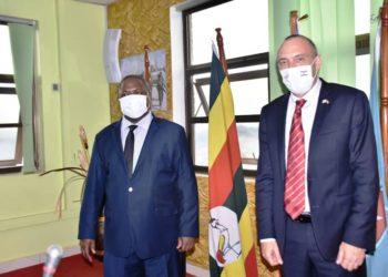 Minister Mwesige with Israel Ambassador
