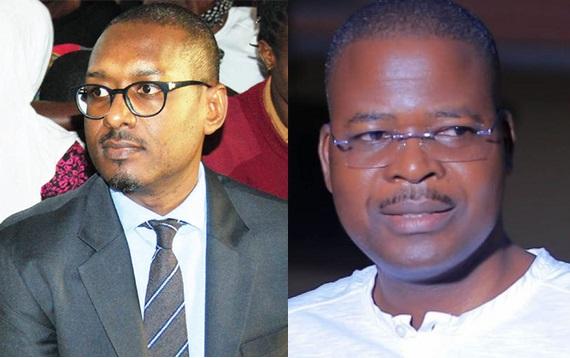 Mathew Kanyamunyu ku kkono n'omuwaabi we misango gya Gavumenti Jonathan Muwaganya