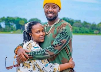 Eddy Kenzo with his found sister