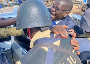 Amuriat being arrested on Tuesday