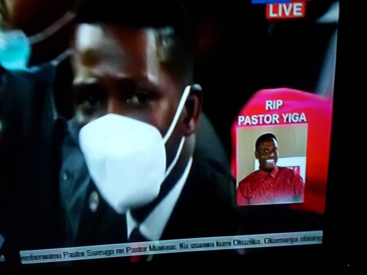 Bobi Wine at Pastor Yiga's burial ceremony
