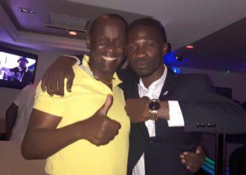 Capt Mike Mukula with Bobi Wine a few years ago