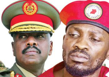 Gen Muhoozi and Bobi Wine