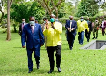 Museveni with Ethiopia delegation led by Deputy Prime Minister Hassen