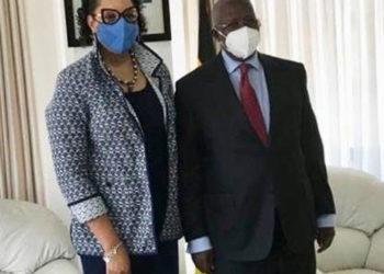Ambassador Brown with Minister Sam Kutesa