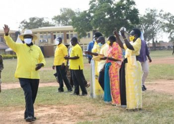 Pulezidenti Yoweri Kaguta Museveni nga atuuka e Kumi