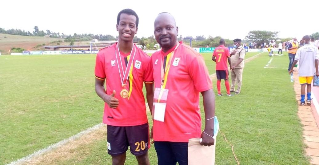 Bebe Cool's son Alpha with veteran journalist Katende Malibu in Tanzania
