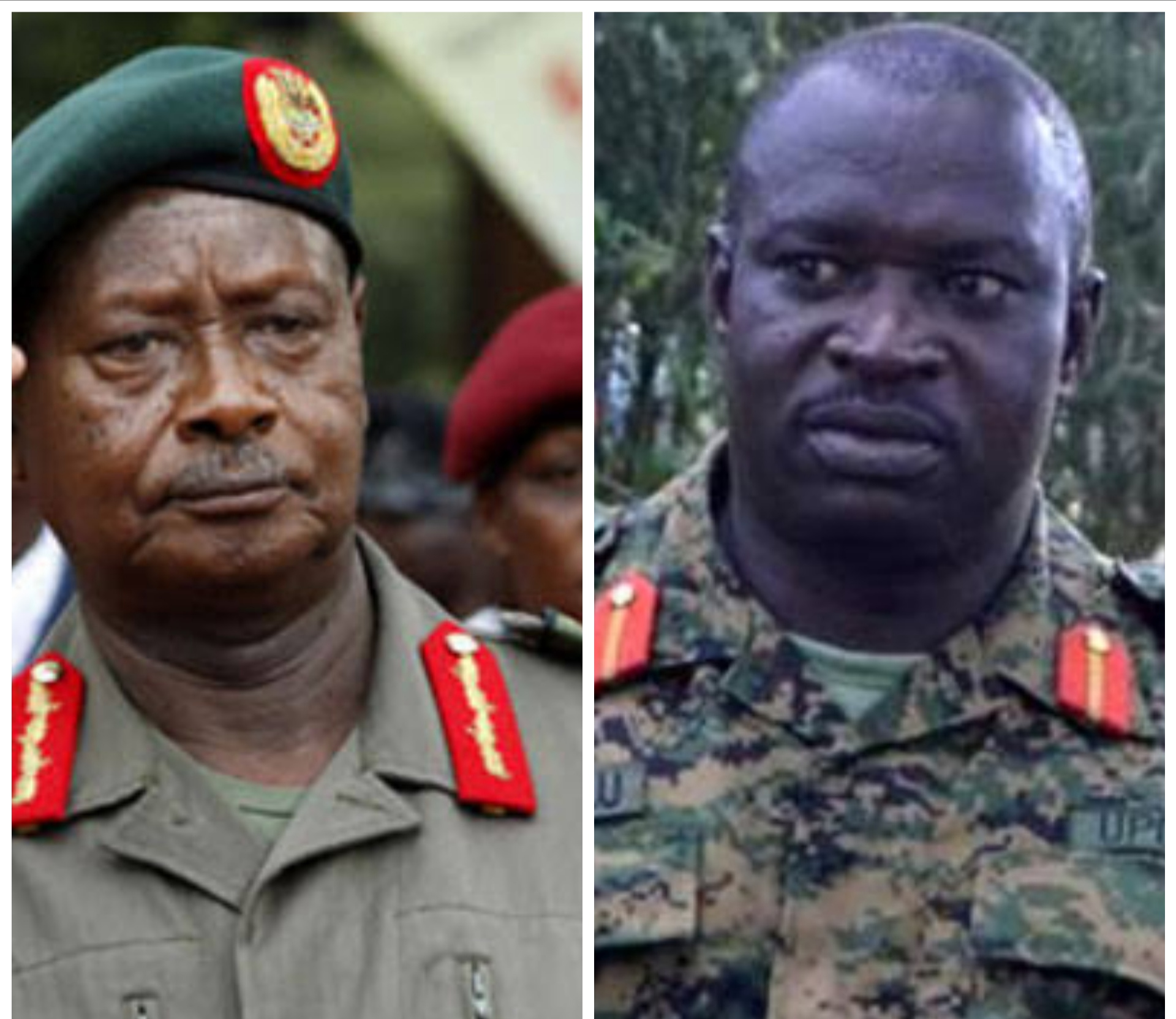 President Yoweri Museveni and Gen Peter Elwelu