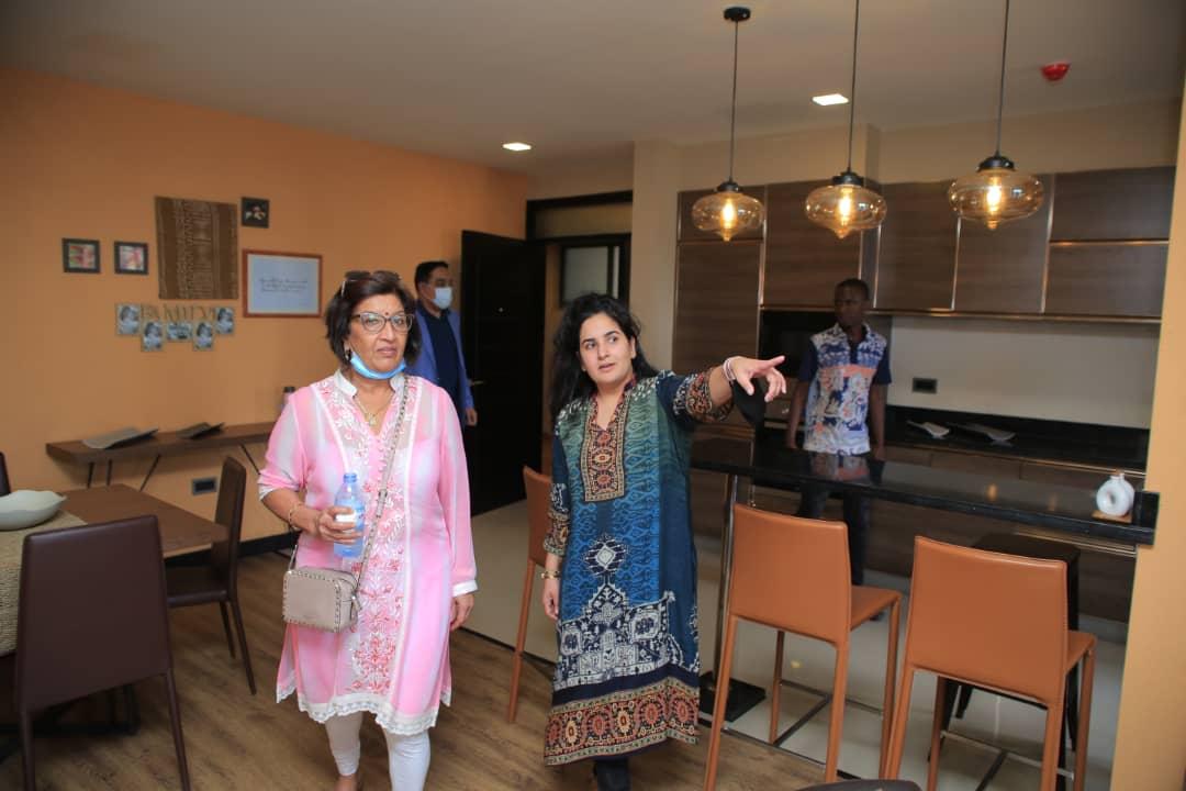 Mrs Jyotsna Ruparelia and Sheena Ruparelia at the launch of Tagore Living Apartments