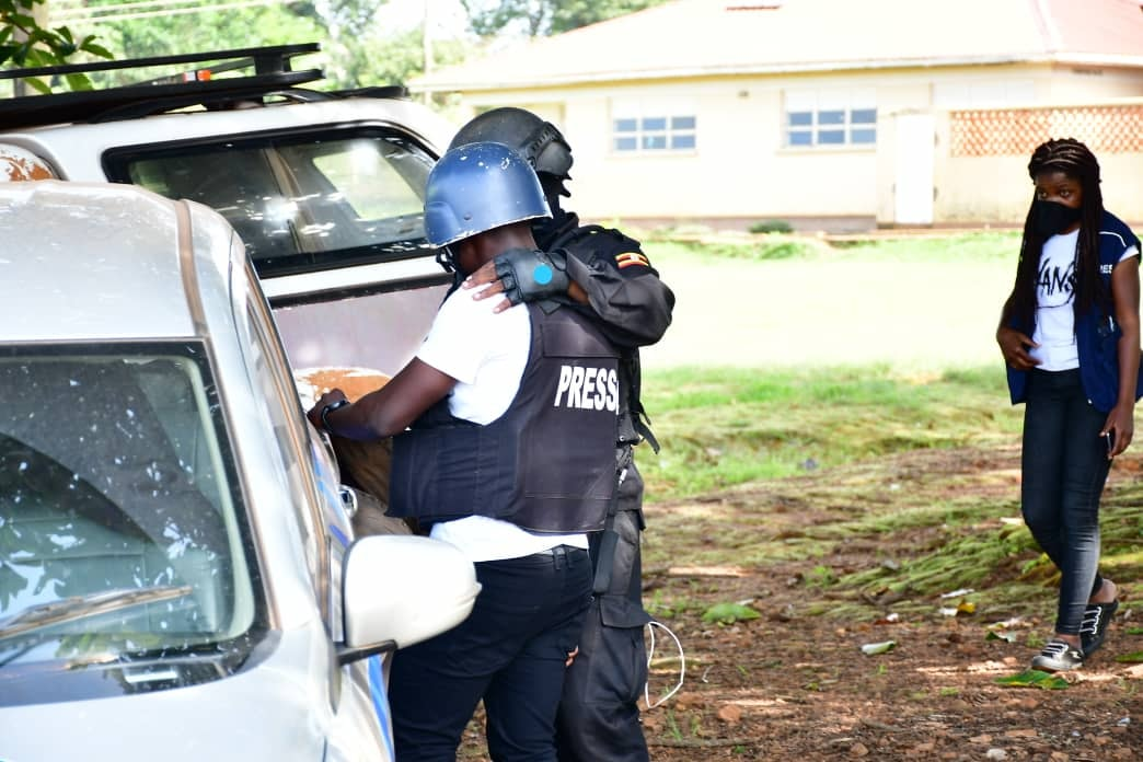 Daily Monitor's Derrick Wandera was arrested on Wednesday in Kalangala while on duty