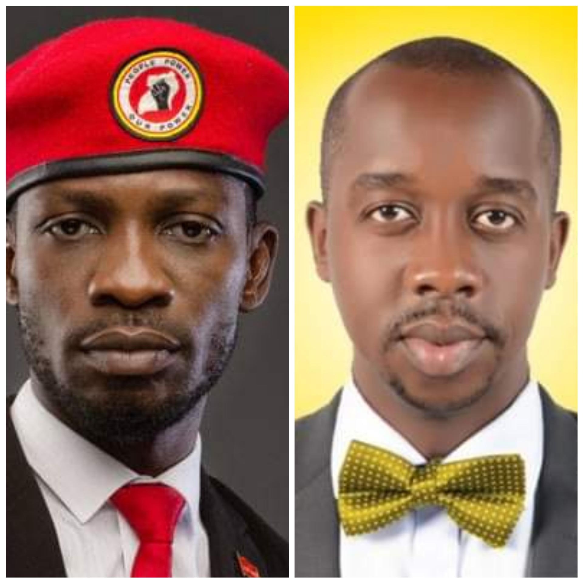 Bobi Wine and Dr Charles Ayume