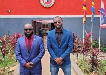 Bobi Wine's private guards Eddie Mutwe and Norbert Elber Ariho