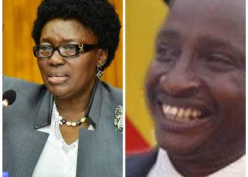 Speaker Kadaga and Moses Karangwa