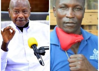 President Yoweri Museveni and the late Zebra Ssenyange