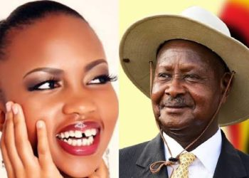 Socialite Sheilah Gashumba and President Museveni