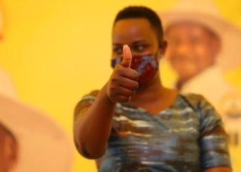 Lilian Keitetsi with NRM head of mobilisation Mathias Kasamba