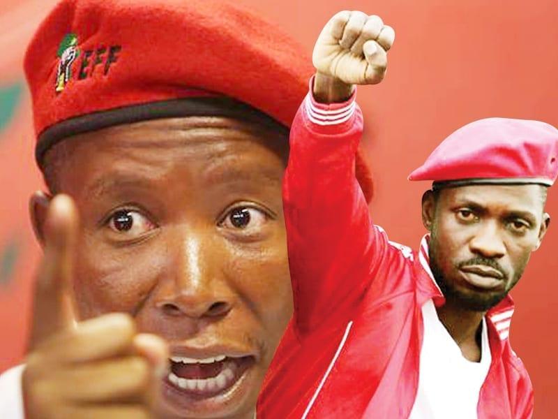 Julius Malema and Bobi Wine