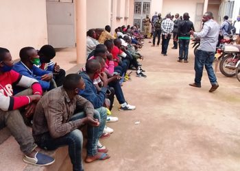 Arrested Rwandans and Congolese
