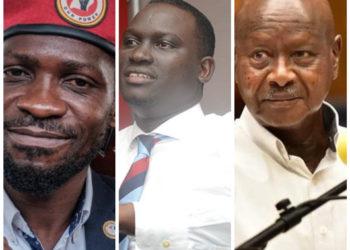 Bobi Wine, NBS TV's Kin Kariisa and President Museveni