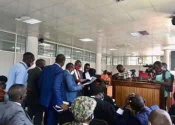 Bobi Wine's lawyers in Court on Thursday