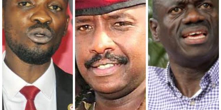 Bobi Wine, Gen Muhoozi and Dr Kizza Besigye