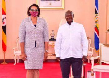 Ambassador Natalie with President Museveni