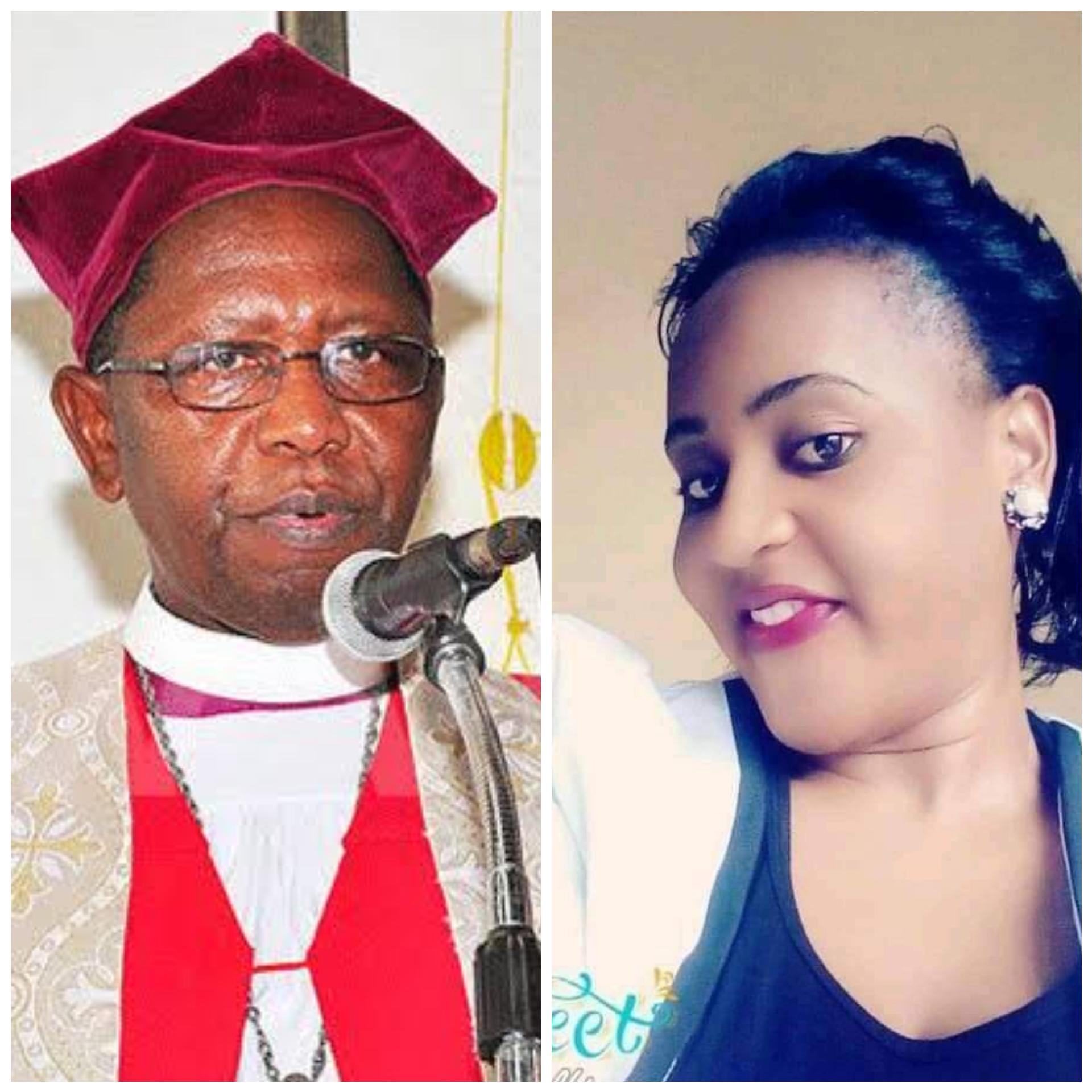 Retired Archbishop Ntagali with Judith