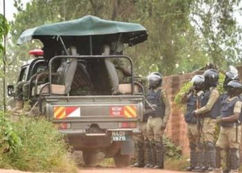 Security at Bobi Wine's home