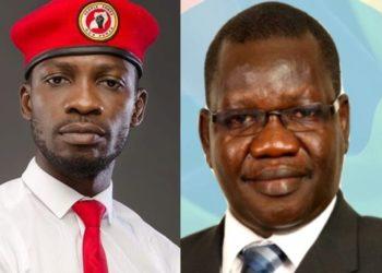 Bobi Wine and Patrick Amuriat