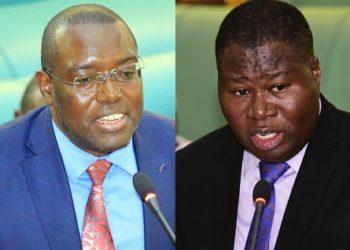 MPs Wilfred Niwagaba and Jacob Oboth Oboth
