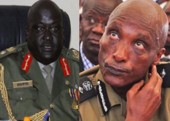 Gen. Andrew Gutti akulira kkooti ya maggye ne Gen. Kale Kayihura eyali omuduumizi wa Poliisi