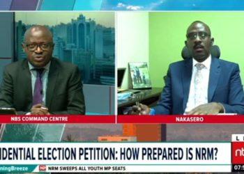 Nbs TV's Simon Kaggwa Njala and Counsel Jet Tumwebaze
