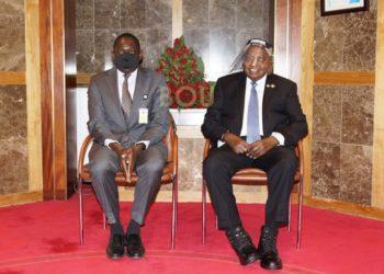 Deputy Governor Dr Atingi Ego and Governor Prof Emmanuel Mutebile