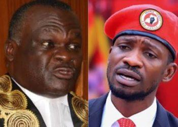 Chief Justice Owiny-Dollo and Bobi Wine