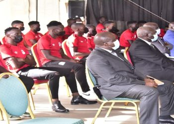 The Uganda Hippos players were in the public gallery as they were praised for their exceptional performance