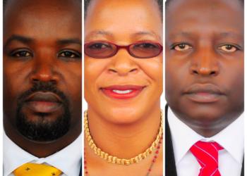 (L-R) Thomas Tayebwa, Anita Among and David Bahati