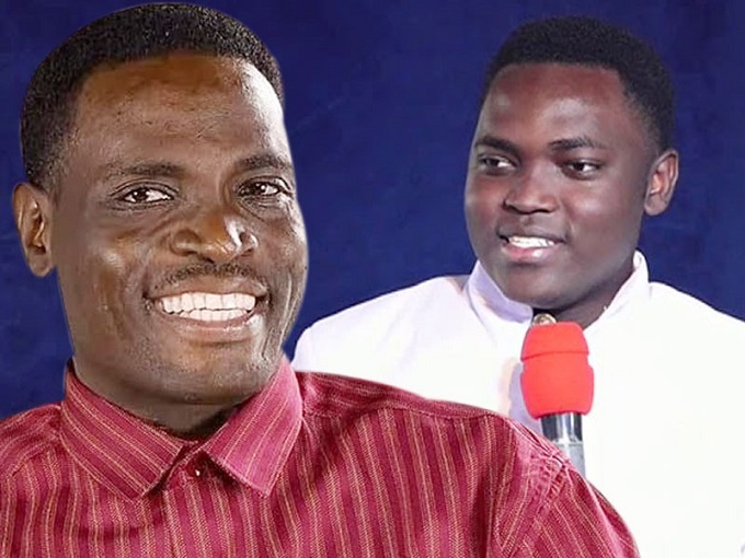The late Pastor Yiga and son Andrew Jengo