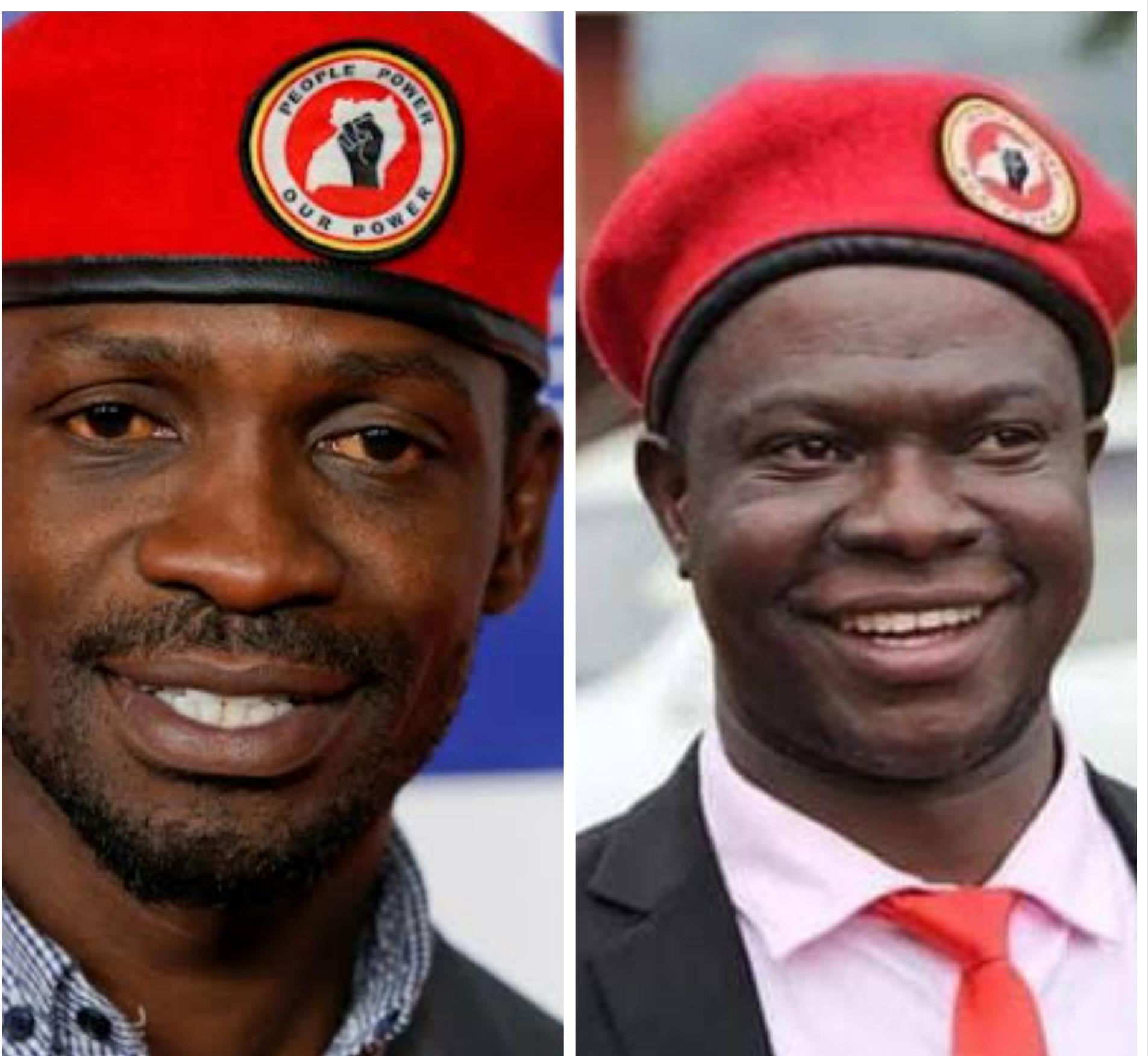 NUP leader Kyagulanyi and Kawempe North MP elect Ssegirinya