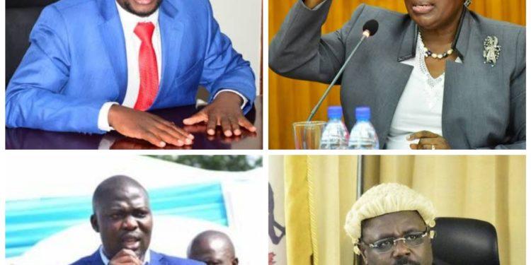 From upper left: Ssemujju Nganda, Rebecca Kadaga, Richard Ssebamala and Jacob Oulanyah