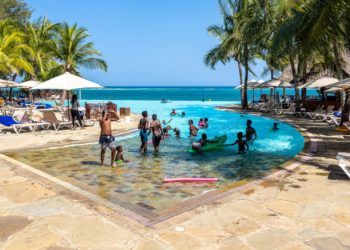 The Swimming Pool overlooking the Indian Ocean