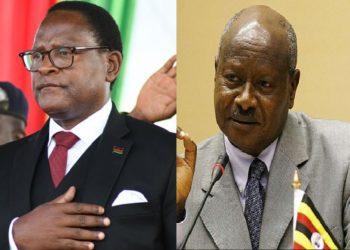 Malawi President Lazarus Chakwera and President Yoweri Museveni