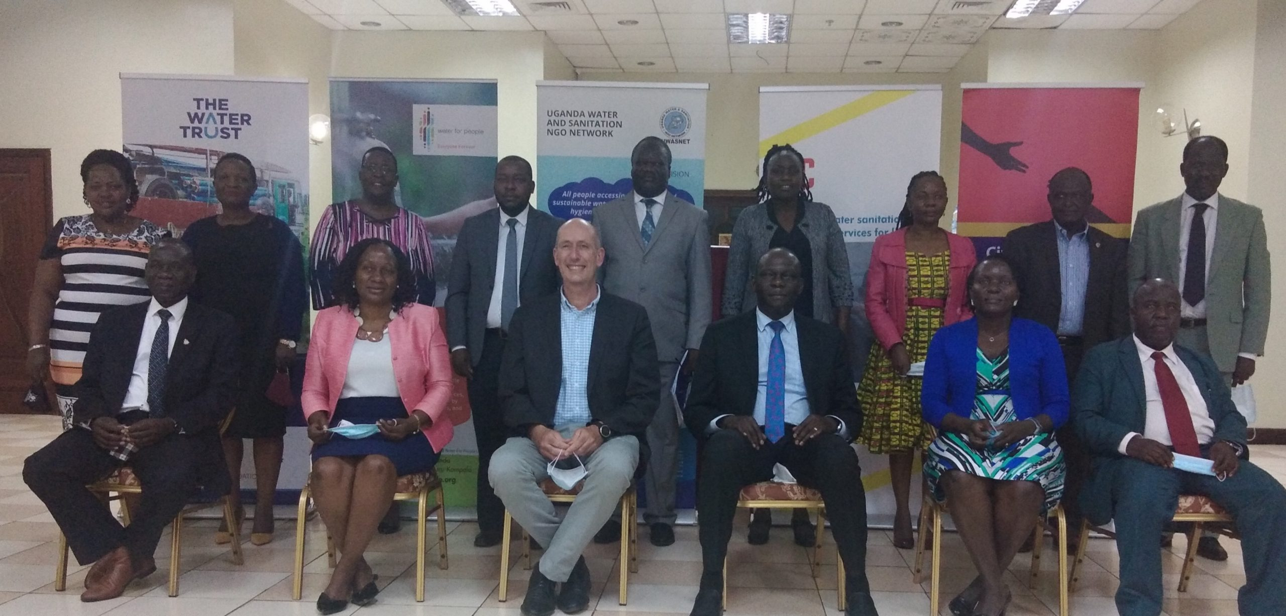 WASH sector stakeholders in a group photo after dialogue meeting on Tuesday